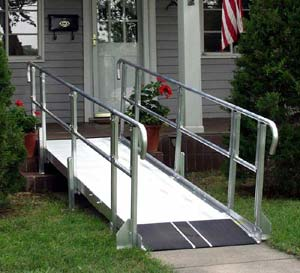 How to build a wheelchair ramp for one step