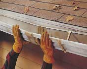 Rehanging sagging gutters